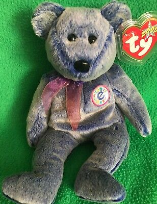 4ab23550ae7 TY BEANIE BABY PERIWINKLE The Bear 2000 8.75