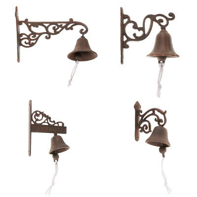 Cast Iron Door Bell Chime Doorbell Wall Mount Antique Style Home Decoration