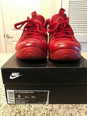 9956b77337023 Nike Air Foamposite Pro Gym Red October Gold Black Mens Size 9 624041-603