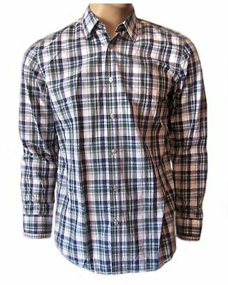 64a7f7c34 HUGO BOSS Men's Green Plaid Oberto Long Sleeve Casual Button Down Woven  Shirt