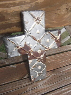 Small Vintage Ceiling Tin Cross
