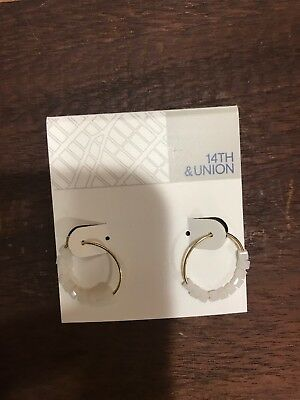 bdcd6461c 14 TH & UNION Gold Hoop Earring With Same White Stone From Nordstrom Rack