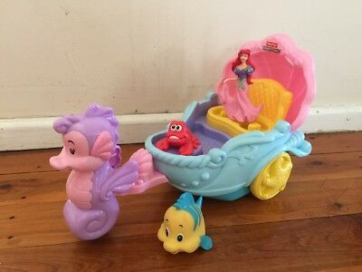 Fisher Price Little People Ariel's Coach Musical Vehicle Rare!!