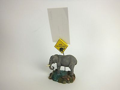Wild Wood Memo Clip/Elephant/100% Hand Made & Painted/Earth/Animals/Nature/New