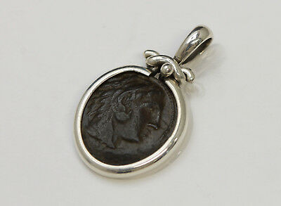 Sterling Silver Pendant, Ancient Greek Coin, Alexander the Great w/Cert - 2030