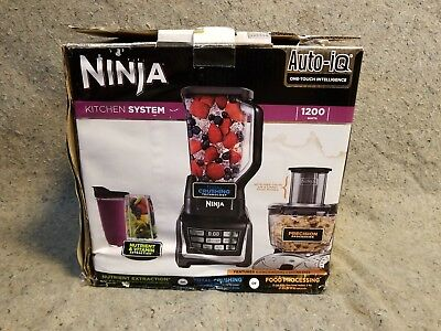 Ninja Kitchen System Blender Package With Auto iQ Model BL681A - New- See Photos
