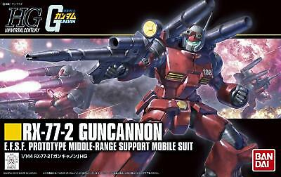 Bandai Gundam Guncannon Rx-77-2 Revive Gunpla Model Kit Hg 1/144 High Grade