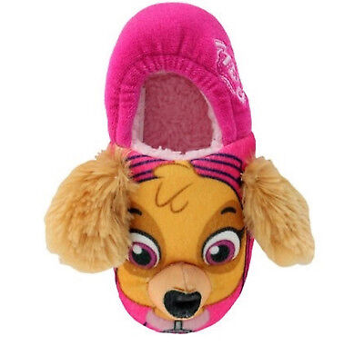 Girls Paw Patrol Skye Slippers - Fleece Lining