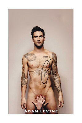 Adam Levine Sexy Autographed Poster Laminated Print. Perfect Gift Must Have