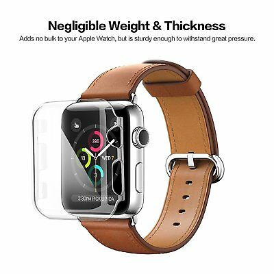 For Apple Watch Series 4 iWatch 40/44mm Clear TPU Screen Protector Case AU SHIP!