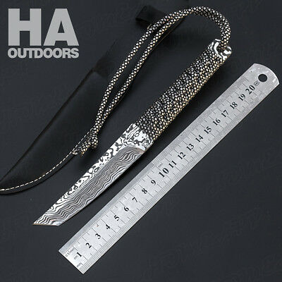 Camping Survival Tool Gift Tactical Hunting Blade Pocket Straight Knife K13