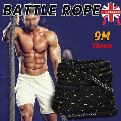 9M Battle Power Rope 38mm Sport Bootcamp Gym Exercise Fitness Training BO