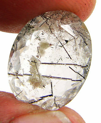 10.05 Ct Natural Rutile Rutilated Quartz  Loose Gemstone Oval Stone - 19199