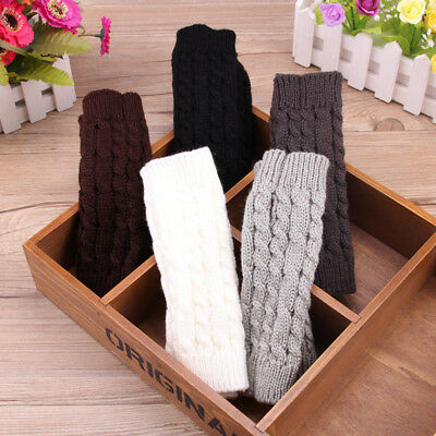 Fashion Women Knitted Fingerless Winter Gloves Soft Warm Mitten Play Cell Phones
