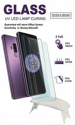 Galaxy Note 9 Screen Protector UV Tempered Glass Shield Full  Dome Curved Edge