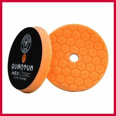 "Chemical Guys Orange Quantum Hex Logic Medium Cutting Pad 5.5"" - BUFX_112_HEX5"