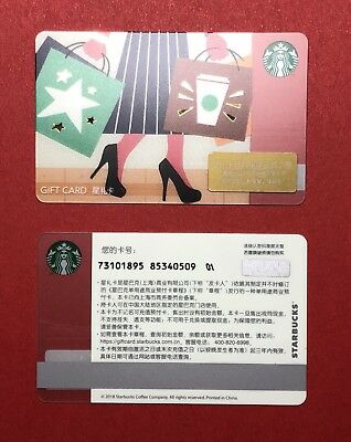 CS1813 2018 China Starbucks coffee Culture Travel Gift card ¥100 1pc