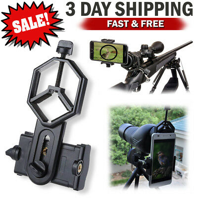 Universal Cellphone Holder Spotting Scope Adapter Telescope Phone Mount to Rifle