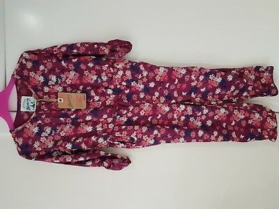 New With Tag Mantaray Girl Aop Twill Jumpsuit Age 3-4 Years