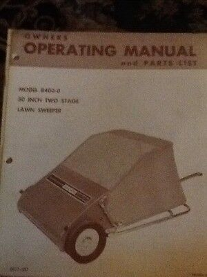 Yard Man Owners Operating Manual And Parts List Model 8400-0. 30 Inch Lawn Swee