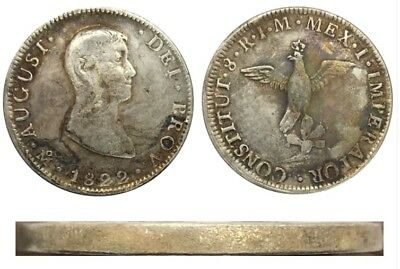 1822 Mexico 8 Reales Coin
