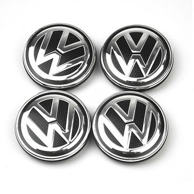 4PCS 56mm Wheel Center Hub Caps Cover Rim Logo Badge Emblem For VW Volkswagen