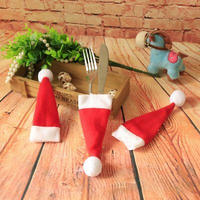 8*Christmas Cutlery Cover Knifes Fork Holder Cutlery Pouch Wedding Tableware Bag
