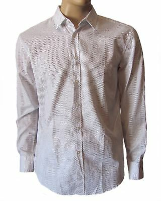 08da5c541 HUGO BOSS Men's White Ronny Slim Long Sleeve Casual Button Down Woven Shirt