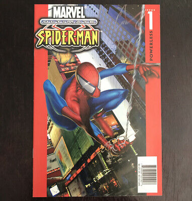 ULTIMATE SPIDER-MAN #1 Vol1 1st(2000)Ultra RARE! G CHECKERS PRINT In VF+