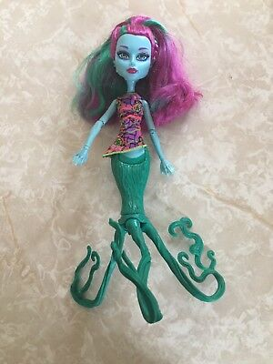 "Monster High 11"" Doll GREAT SCARRIER REEF GLOWSOME GHOULFISH POSEA CORAL Mermaid"