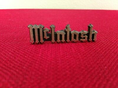 "McIntosh Labs original Emblem, Logo, Badge / 2.31"" long / Gold letters / 2 Avail"