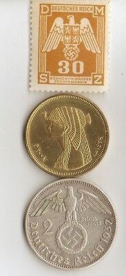-6-*WW2 - Zink,  Steel, Brass and SILVER - *us  and -*german coins/STAMPS ++
