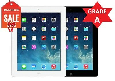 Apple iPad 4 WiFi + GSM Unlocked | 16GB 32GB 64GB 128GB | Black or White (R)