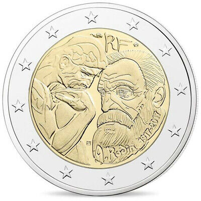 2€ commémorative FRANCE 2017 - Rodin - UNC