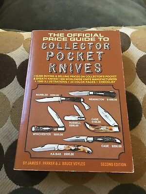 OFFICIAL PRICE GUIDE TO COLLECTOR POCKET KNIVES By J. Bruce Voyles Second Ed
