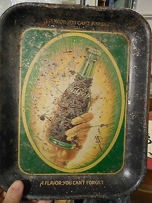 VINTAGE c1920's - 30's NUGRAPE SODA SERVING TRAY ADVERTISING TRAY SIGN LOOK !!