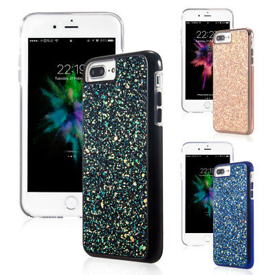 Fashion Bling Glitter Crystal Diamond Hard Soft Case Cover For iPhone 8+/7+ 7/6