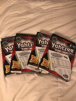 Yahtzee Score Cards 80 Replacement Sheets Dice Game Lot Of 4