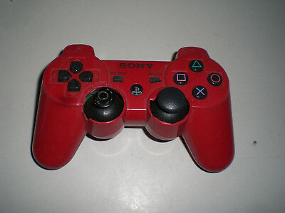 PS3 PlayStation 3 - DualShock 3 Wireless Controller orig. Sony B-Ware rot Geh.