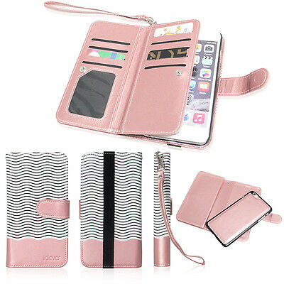 Magnetic 9Card Slot PU Leather Flip Wallet Phone Case Cover iPhone 8/7/6s Plus X
