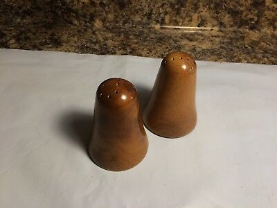 Pair of Vintage Wooden Salt and Pepper Shakers