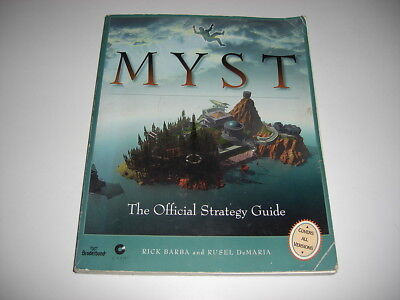 MYST 1 Official STRATEGY GUIDE BOOK - Covers all versions - FAST POST