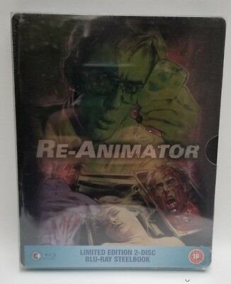 Re-animator Limited Edition 2 Disc Steelbook Blu-ray Jeffrey Combs
