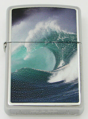 Zippo Lighter 2011 High Polished Chrome Ocean Wave Curl