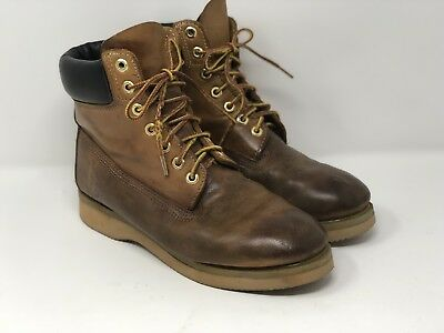 e0f48286d38f4 TIMBERLAND MENS VINTAGE 80's 90's Ankle Leather Work Boots Brogans USA Size  8.5