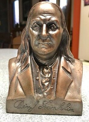 Vintage Ben Franklin Copper Metal Bank-Collectible-C@@l!!
