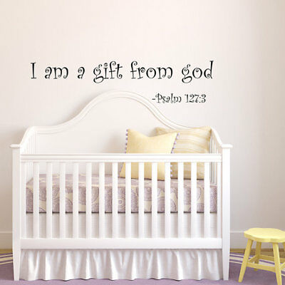 Psalm127:3 Bible Verse Vinyl Wall Stickers Decals Scripture Quote Word Art Decor