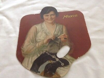 Moxie Soda Vintage Cardboard Fan, Circa 1920.  Over there Song