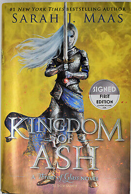 Sarah J Maas SIGNED / AUTOGRAPHED Kingdom of Ash - Book 7 Throne of Glass  NEW
