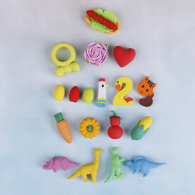 1 Pack New Cute Food Rubber Pencil Eraser Set Novelty Stationery Kids Gifts HOT`